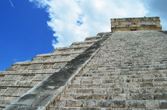 Mayan pyramid of Kukulkan in Mexico Stock Images