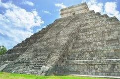 Mayan pyramid of Kukulkan in Mexico Royalty Free Stock Photography
