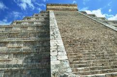 Mayan pyramid of Kukulkan in Mexico Royalty Free Stock Images