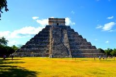 Mayan pyramid in Mexico. Ancient Mayan pyramid in Mexico Royalty Free Stock Image