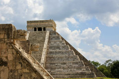 Mayan Pyramid and Ruins at Chichen Itza Stock Images