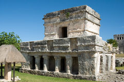 Mayan pyramid, Tulum, Mexico Stock Photography