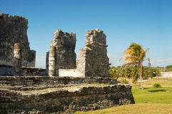 Mayan pyramid, Tulum, Mexico Stock Image