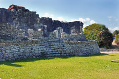Mayan pyramid, Tulum, Mexico Royalty Free Stock Photography