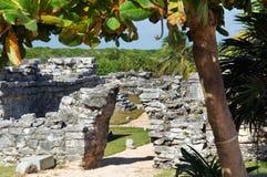 Mayan pyramid, Tulum, Mexico Stock Photos