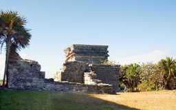 Mayan pyramid, Tulum, Mexico Royalty Free Stock Image