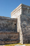 Mayan pyramid, Tulum, Mexico Royalty Free Stock Photo