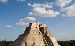 Mayan pyramid in Uxmal Stock Image