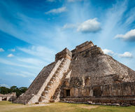 Mayan pyramid in Uxmal, Mexico Stock Photography