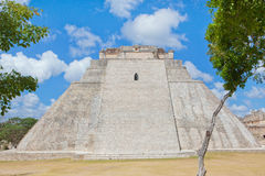 Mayan Pyramide. Pyramide of Uxmal in Mexico Stock Images