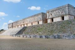 Mayan Pyramide buildings. Pyramide buildings of Uxmal, Mexico Stock Images