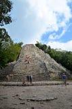 Mayan pyramide in Coba, Mexico Royalty Free Stock Images