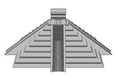 Mayan pyramide Stock Image