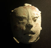 Mayan religious mask. The mayan mask at display Royalty Free Stock Photo