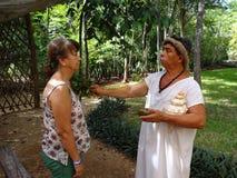 Mayan ritual i Yucatan Mexico Arkivfoton