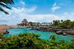 Mayan Riviera paradis Fotografering för Bildbyråer