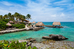 Mayan Riviera Paradise. In Mexico Royalty Free Stock Images