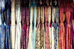 Mayan Robes. Lined up at a street store in Guatemala Royalty Free Stock Photography