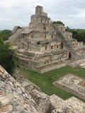 Mayan Ruïne Stock Afbeeldingen