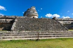 Mayan ruïnes - astronomisch waarnemingscentrum Royalty-vrije Stock Afbeeldingen