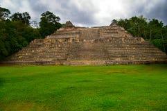 Mayan ruïnes in Belize, Midden-Amerika stock foto