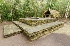 Mayan ruïnes bij coba, cancun, Mexico stock afbeelding