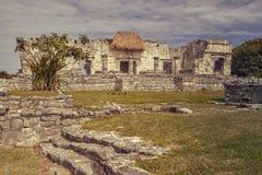 Mayan ruïnes in Tulum royalty-vrije stock afbeeldingen