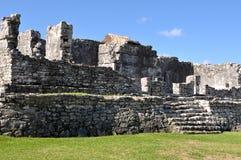 Mayan Ruïnes in Tulum Mexico stock fotografie