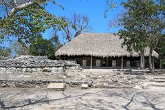 Mayan ruïnes van Cozumel royalty-vrije stock afbeelding