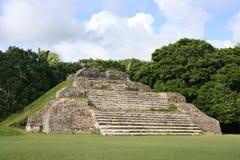 Mayan Ruïnes van Ha van Altun Stock Foto