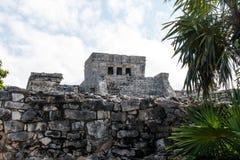 Mayan ruïnes van Tulum Stock Afbeeldingen