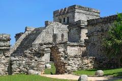 Mayan ruïnes van Tulum Mexico Stock Foto's