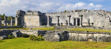 Mayan ruïnes van Tulum Mexico Royalty-vrije Stock Foto's