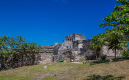 Mayan ruïnes van Tulum Mexico Royalty-vrije Stock Afbeeldingen
