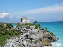 Mayan Ruin. Along Mexican coats stock photography