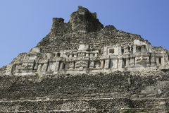 Mayan Ruin in Belize. A Mayan ruin called Xunantunich in the middle of Belize beautifully restored Stock Images