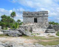Mayan ruin in the Caribbeans Mexico Royalty Free Stock Photo