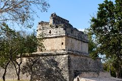 Mayan Ruin at Chichen Itza Stock Photos