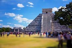 Mayan Ruin, the Pyramid - Chichen Itza Mexico Stock Image