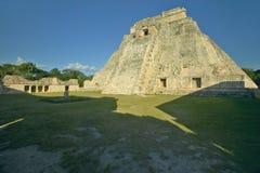 Mayan ruin and Pyramid of Uxmal at sunset in the Yucatan Peninsula, Mexico Stock Photography