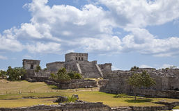 Mayan Ruin at Tulum Royalty Free Stock Image