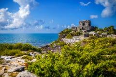 Mayan Ruin. In Tulum, Yucatan, Mexico Royalty Free Stock Image