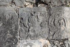 Mayan ruin wall Stock Image