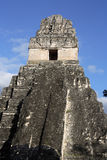 Mayan Ruins. Temple II at Tikal, otherwise known as the Place of Voices or the Place of Whispers in Guatemala Royalty Free Stock Photo