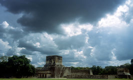 Mayan ruins. In the Yucatan peninsula royalty free stock images