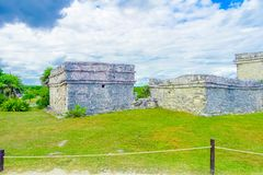 Mayan ruins Archeology area in Tulum. Yucatan. Mexico Stock Photo