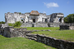 Mayan Ruins Architecture - Tulum Cozumel Royalty Free Stock Photography