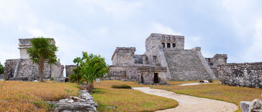 Mayan ruins in Cancun, Mexico Royalty Free Stock Photography