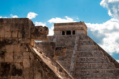 Mayan ruins in Chichen Itza. Royalty Free Stock Image
