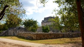 Mayan Ruins at Chichen Itza Stock Photography
